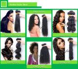 Tipos malaios retos pretos naturais do Weave do cabelo humano da extensão do cabelo do uso conveniente