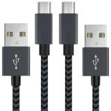 Mikro-USB kabelt umsponnene Samsung USB-Daten-aufladenkabel/androide Kabel - Mikro-USB-aufladenkabel für Galaxie S7/S6/
