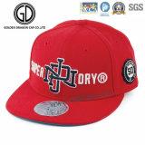Gorra de béisbol ajustable de encargo de los deportes del Snapback del gancho de leva 2016 y del sombrero de la manera del acoplamiento del bucle con bordado
