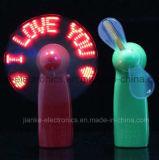 Напечатанный вентилятор сообщения Handheld СИД проблескивать промотирования миниый с логосом (3509)