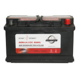 AGM-L4 12V 80ah AGM Battery Portable Car는 Battery를 시작한다 Stop