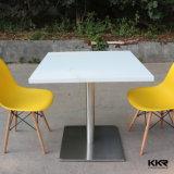 Журнальный стол Kkr белый твердый поверхностный для 4 людей