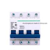 Миниатюрный автомат защити цепи, 4p 20, 25, 32, 40A MCB, 4.5ka, 6ka (DZ47-63)