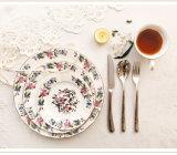 Disco di ceramica della bistecca degli articoli per la tavola di Cina di osso del piatto del piatto del fiore