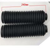 Het zwarte Stoflaken van de Vork van Blaasbalgen Rubber Voor voor Motorfiets, Auto, Elektrisch voertuig