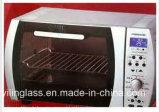 白く黒いシルクスクリーンが付いている極度の白いオーブンのドアガラス