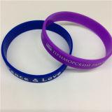 Braceletes personalizados silicone impressos simples da manufatura