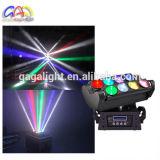 Productos calientes para vender en línea 8 luces móviles de la etapa de iluminación de DJ de la pista de la araña blanca del PCS LED