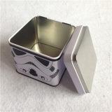 Sqaure замыкает накоротко жестяную коробку упаковки с воздухонепроницаемой крышкой