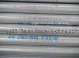 BS1387 galvanizados a quente do tubo de aço rígida EMT Tubo de transferência