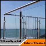 Direttamente balaustra di vetro dell'acciaio inossidabile del fornitore per il balcone o la scala
