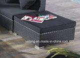Sofà d'angolo commerciale del rattan di nuovo disegno di Foshan Using esterno o il giardino (YT255)