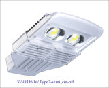 5 년 Warranty를 가진 60W IP66 LED Outdoor Street Light (자르십시오 떨어져)