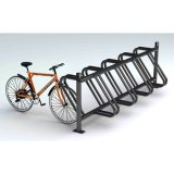 Im Freien galvanisierter halb vertikaler Fahrradhalter