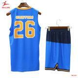 カスタムワイシャツのデジタルスポーツの摩耗の印刷の青いバスケットボールのユニフォーム