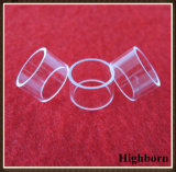 Tamanho pequeno de polimento de vidro de quartzo transparente do Flange de anéis