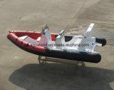 Barco de motor inflable los 6.2m rígido de la costilla del barco/de la fibra de vidrio de pesca de Aqualand los 20FT (rib620d)
