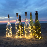 2m 병 DIY를 위한 20LED 포도주 코르크 모양 건전지 구리 철사 끈 빛