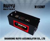 自動車バッテリートラックバッテリー( 12V 150ah フラットプラグ、高品質)
