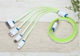 셀룰라 전화를 위한 1개의 국수 USB 데이터 케이블에 대하여 다기능 4