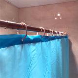 Tenda 100% di acquazzone blu del poliestere di colore per la stanza da bagno