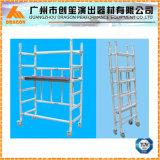 Double largeur Échafaudage en aluminium, escalier Echectage, tour échafaudage (SDW-01)
