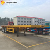 3 Axle 40 Feet Flatbed Container Semi Dirty Trailer card for
