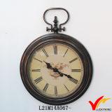 Reloj de pared de metal de la vendimia francesa redonda grande de la antigüedad