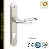 Европейская ручка замка двери с плитой цилиндра (7023-Z6015)