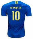 Neymarジュニアのブラジルのサッカーのジャージの2018年のワールドカップの黄色の青いブラジル最上質のイエス・キリストCoutinho Marcelo FirminoのフットボールShirts Camisa De Futeb