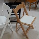 도매 옥외 연회 나무로 되는 접히는 결혼식 비치용 의자