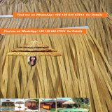 Thatch africano quadrato 80 dell'Africa della capanna personalizzato capanna africana a lamella rotonda sintetica a prova di fuoco del Thatch del Thatch di Viro del Thatch della palma