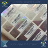 Étiquette hologramme avec numéro de code à barres