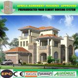 Villa prefabbricata di Containe della Camera mobile d'acciaio chiara concreta veloce della costruzione