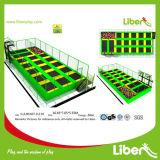 De apparatuur van het Park van de Trampoline van Rebounder van de rechthoek met de Hoepels van het Basketbal