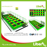 Rectângulo Rebounder trampolim estacionar equipamento com arcos de basquete