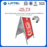 Placa de alumínio de alumínio de 32mm com quadro pesado de cartazes (LT-10-SR-32-A)