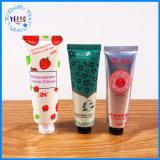 Tubo plástico del cosmético de los productos de la crema de la mano de la escritura de la etiqueta privada de la manera
