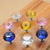 De kleurrijke Knoppen van de Deur van de Kast van het Glas van het Kristal voor de Handvatten Furnitures van de Lade