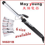 M601b Chrom überzogene Zylinder LCD-Haar-Brennschere