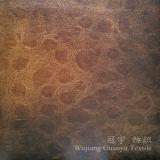 Bronzando la pelle scamosciata rivestire di pelle i tessuti domestici 100% del sofà della tessile del poliestere