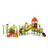 Parque Infantil exterior de plástico para crianças e crianças (JYG-15024)