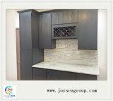 Poppularの現代台所競争の工場価格のアメリカの標準灰色カラー食器棚