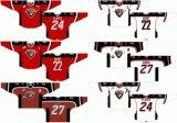 Customized Homens Mulheres Crianças Liga de Hóquei Ocidental Vancouver Giants 2001-2012 Estrada Inicial Hóquei no Gelo Jersey