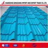 Prepainted galvanizada Teja Hoja de techos de cartón ondulado