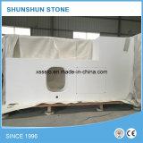 Populaire comptoir en pierre de quartz blanc pour salle de bains