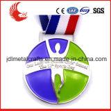 Il doppio ha parteggiato medaglia di sport di nuoto di disegno per caduta della sagola della medaglia