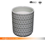 Candela profumata della cera paraffinica di alta qualità in di ceramica con il contrassegno del metallo dell'oro per la decorazione domestica