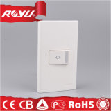One Gang Bell Push Switch, interruptor sem fio branco