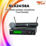 Beta tipo 58 vero microfono di serie Slx24 dello studio di diversità per l'esposizione in tensione